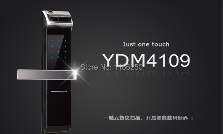 Digital Door Lock Smarter Solution for your home High tech Fingerprint Digital Door Lock Y-D-M-4109(China (Mainland))
