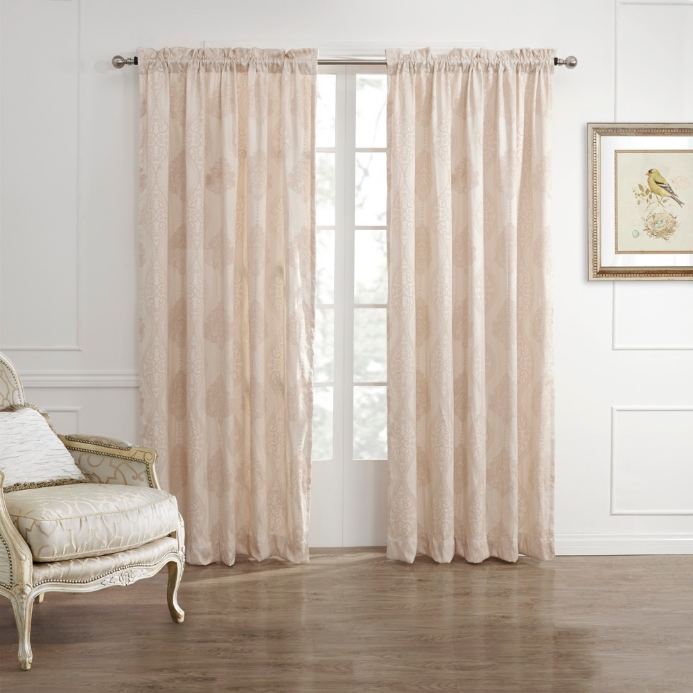 TWOPAGES Rod Pocket Country Fancy Arabesque Energy Saving Curtain Drapes (One Panel) Custom Made Available(China (Mainland))