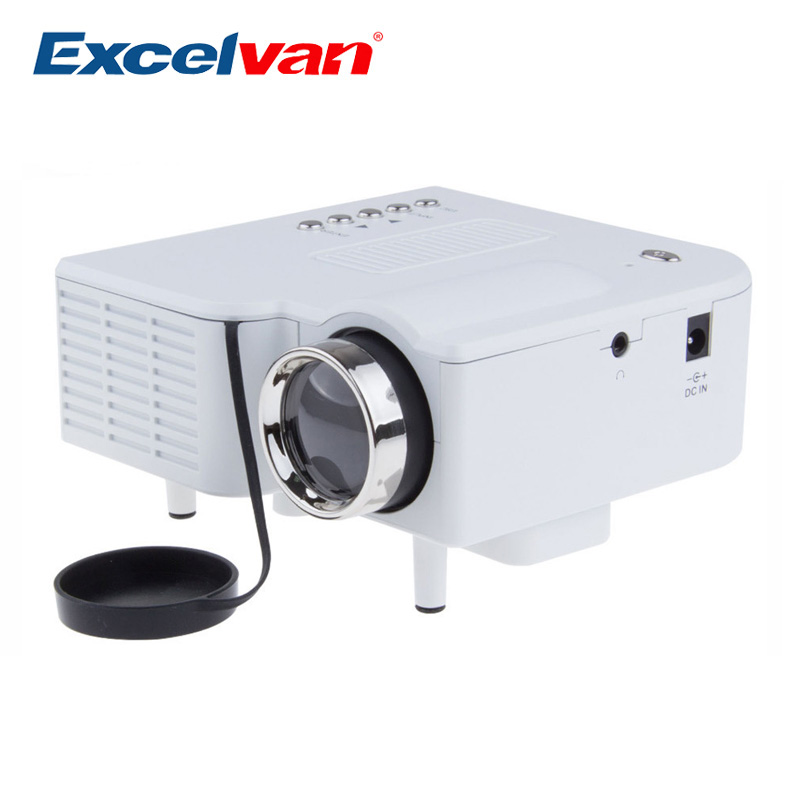 Excelvan uc28 portable led projector cinema theater pc for Small projector for laptop