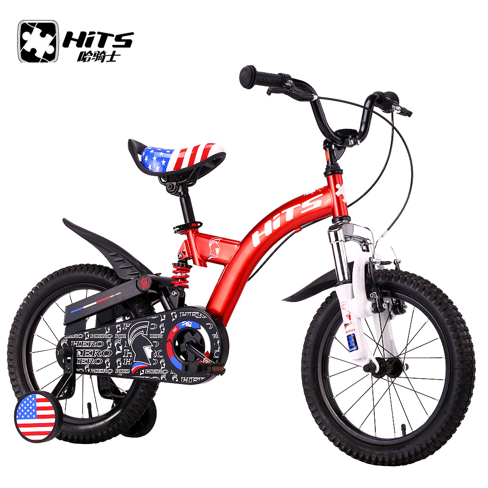 HITS Hero Kid's Bike Cycling Child Safety Bicycle Professional For Children Childhood 16 Inch With Protective Wheels 5 Colors(China (Mainland))