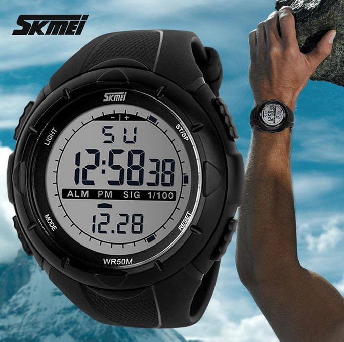 2015 New Skmei Brand Men LED Digital Military Watch, 50M Dive Swim Dress Sports Watches Fashion Outdoor Wristwatches(China (Mainland))