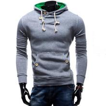 2016 Hoodies Men Sudaderas Hombre Hip Hop Mens Brand Double Pocket Long Sleeve Hoodie Sweatshirt Sport Suit Slim Fit Men Hoody