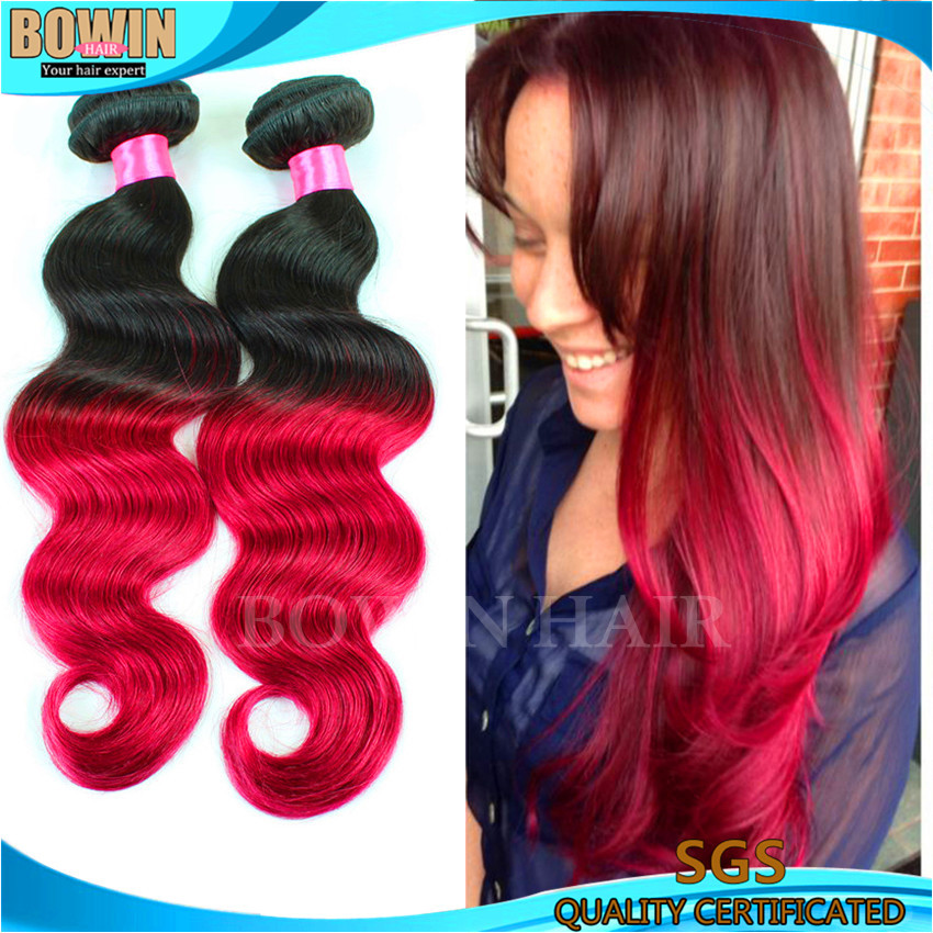 Peruvian Virgin Hair Body Wave Two Tone 1b/burgundy Human Hair Weave 3 bundles Peruvian Virgin Hair Wavy Ombre Hair Extensions<br><br>Aliexpress