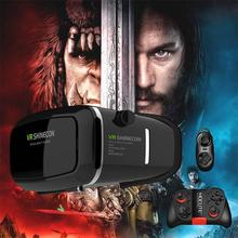 Shinecon VR Pro Version Virtual Reality 3D Glasses Headset Head Mount Google Cardboard Movie Game For 4-6 inch Phone + Remote(China (Mainland))