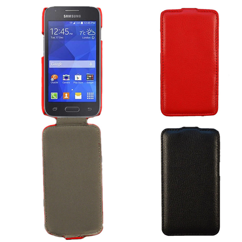 NEW Red Flip PU Leather Case For Samsung Galaxy Ace 4 Lite G313 G313H SM-G313H Ace 4 Neo G318H SM-G318H Cover Skin Phone Bag(China (Mainland))