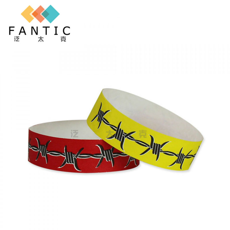200pcs without logo one time use printable paper wristbands customized paper wristbands supplier biker bracelets for men(China (Mainland))