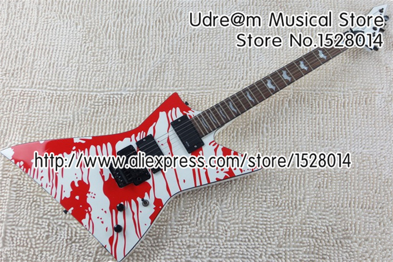 New Arrival ESP LTD DJ-500 Electric Guitar Blood Tear Floyd Rose Tremolo In Stock For Sale(China (Mainland))