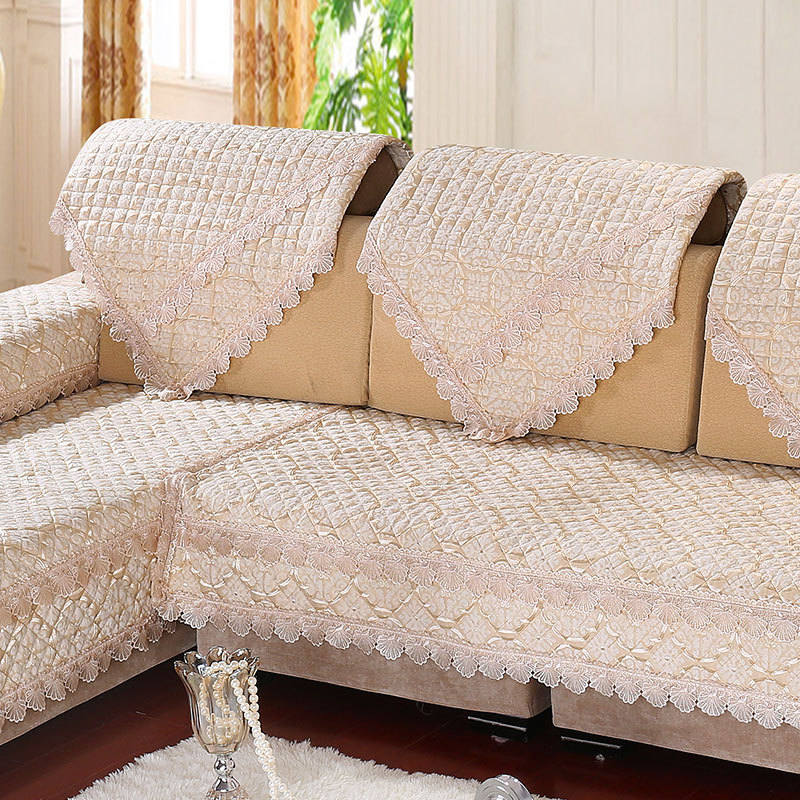 3style Chenille Sofa Cover Set 1pc Printed Sectional Sofa Cover Luxury Lace Cover For Sofa