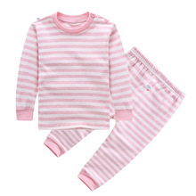 2016 Limited Spring Cotton Underwear Set Infant Neutral Natural Colored Pajamas For Men And Women 1-3 Years Of Age Long Johns(China (Mainland))