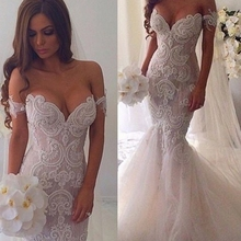 Buy Vestido De Noiva Mermaid Bridal Gown Fish Tail Fashionable Sexy Wedding Dress 2017 Pearls Beaded Lace Appliques Wedding Dresses for $198.00 in AliExpress store