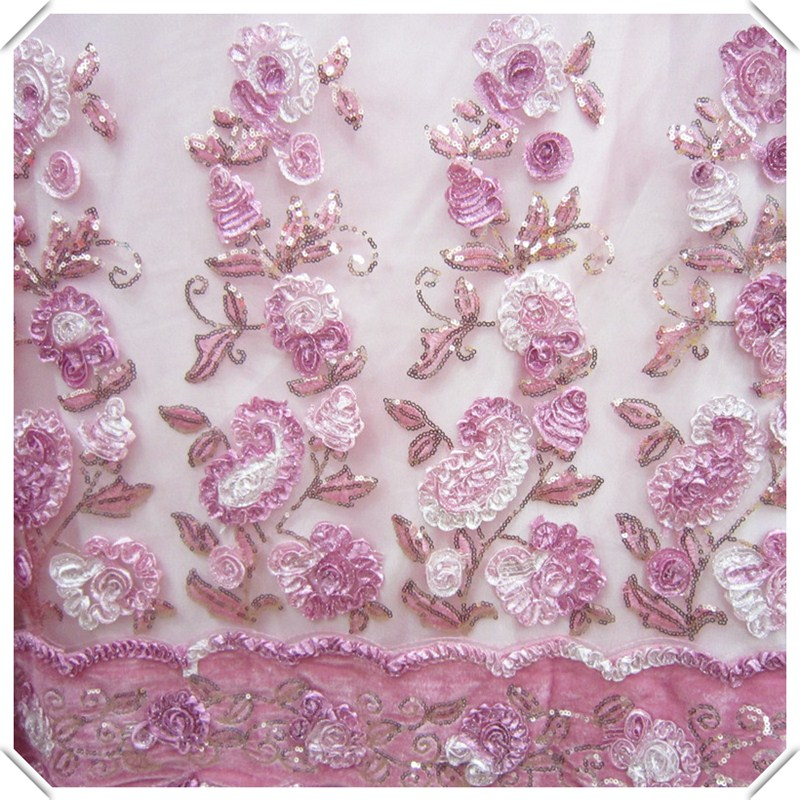 Export stereo dribbling embroidery lace fabric cloth