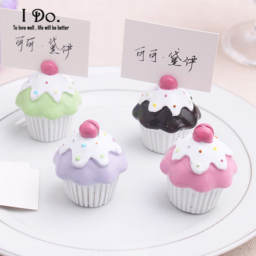 Free Shipping Cupcake Place Card Holder Wedding Decoration Centerpieces Decoracao Casamento Table Number Holder (Random Color)(China (Mainland))