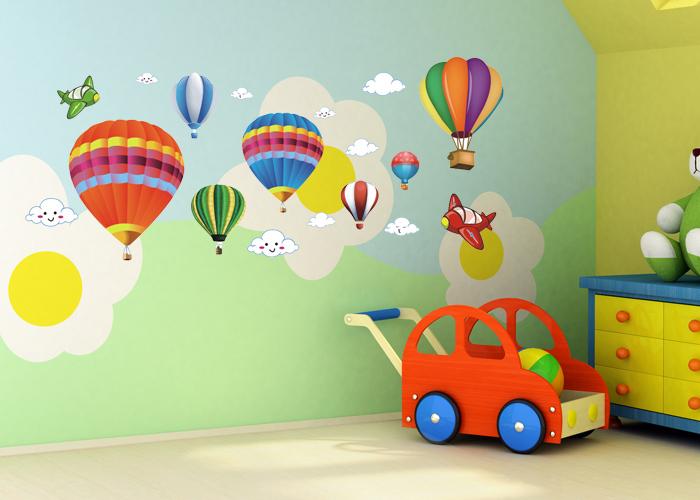 [해외]?벽 스티커 / 어린이 & 39;의 방 / 만화 / 교실 레이아웃..