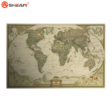 Classic World Map English For Retro Kraft Paper Poster Decorative Painting Core Stationery School Supplies(China (Mainland))