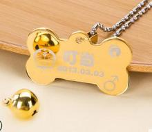 New Arrivals Cat Dog Pet Tags Collars & Leads Metal  Personalized Laser Carving Name Pet Necklaces Chains Pet Products (China (Mainland))