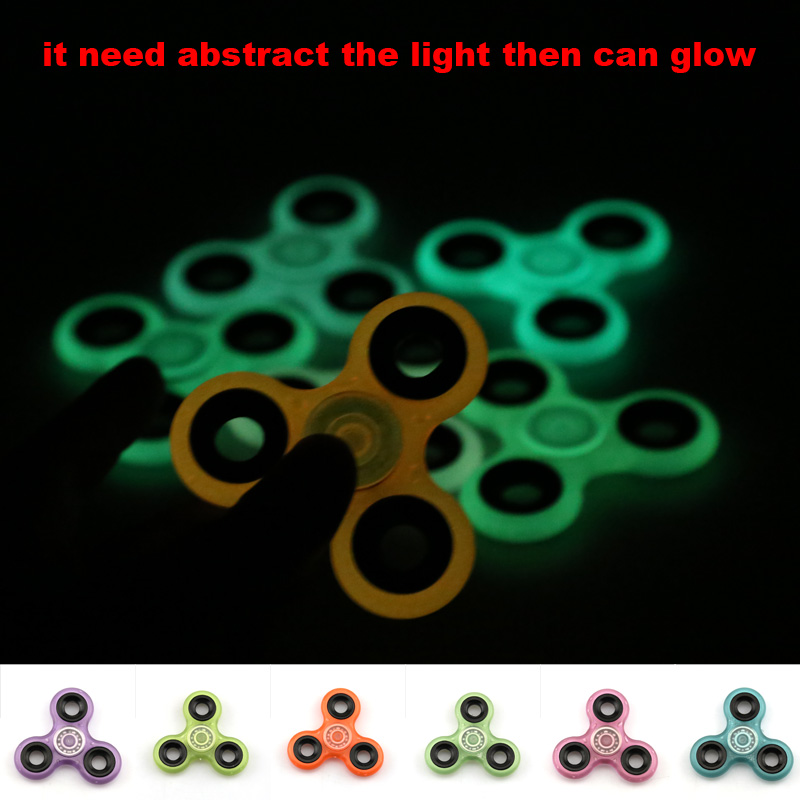 Tri-Spinner Fidget Toy Fingertip Gyroscope Plastic EDC Hand Spinner For Autism And ADHD hand Spinner EDC Sensory Fidget Spinners