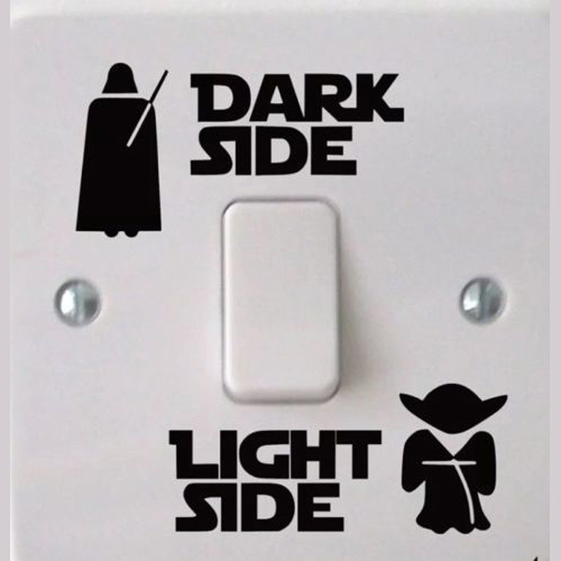 Wars Dark Light Side Star Classic Film Funny Vinyl Switch Stickers Decal 3WS0001