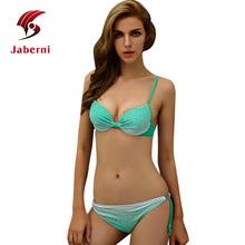 Jaberni 2016 Sexy Empurrar Para Cima do Biquíni Maiô Feminino Sólida Diamante Beachwear Com Tiras Mulheres Maiô Plus Size Swimwear XXL