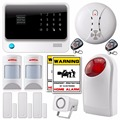 Wireless WiFi Network GSM SMS Home Security Alarm System IOS Android app Control new anti pet