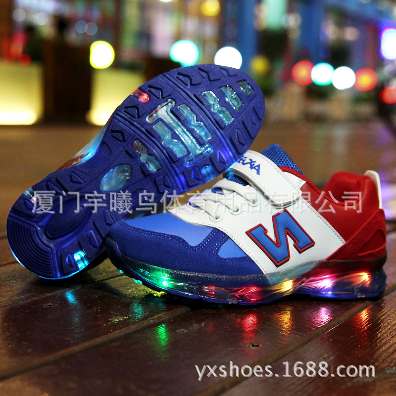 Colorful LED Light Children Shoes 2016 New Spring Autumn Luminous Girls Boys Casual Kids Sneakers Chaussure Enfant