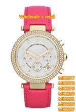 Damas moda del reloj MK2277 MK2278 MK2279 MK2280 MK2281 MK2290 MK2297 + caja original, venta al por mayor y al por menor + envío gratuito