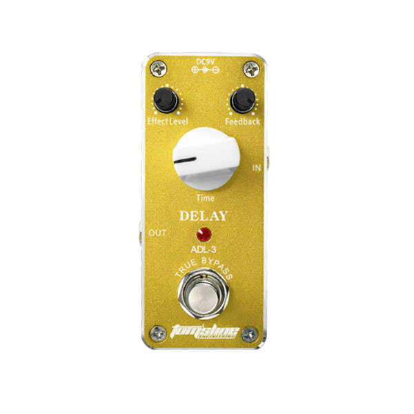 Aluminum Alloy Housing True Bypass Design Aroma ADL-3 Mini Delay Electric Guitar Effect Pedal with Magic Tape New Hot(China (Mainland))