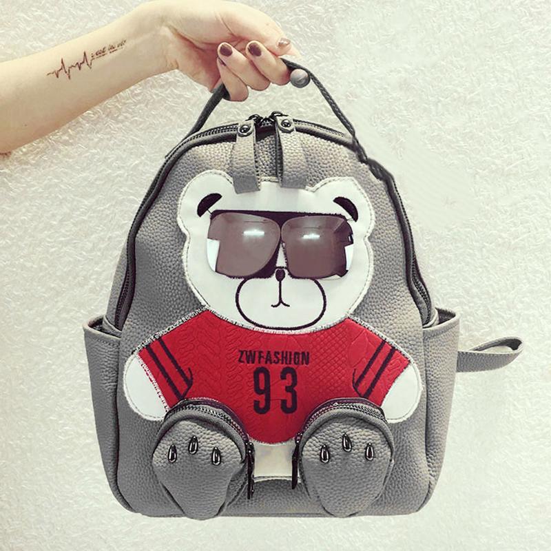 Ms. Spring 2016 new Korean fashion trend schoolbags backpack Winnie simple bag female bag(China (Mainland))