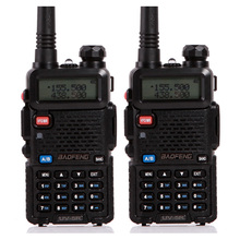 2PCS/LOT Free Shipping 136-174/400-520MHZ Dual Band VHF UHF Baofeng uv-5r two way radio