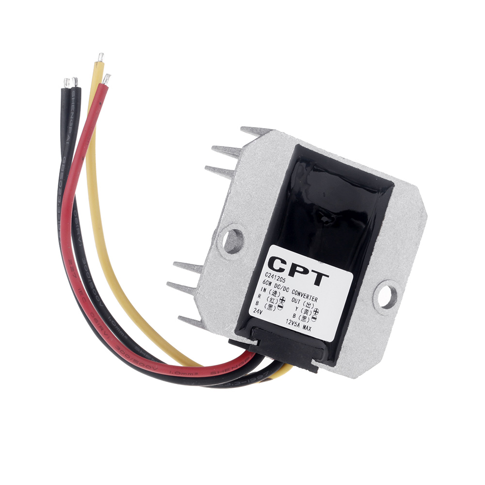 DC / DC Converter Regulator 24V Step Down to 12V 5A 60W Power Supply Module Practical Inverters & Converters(China (Mainland))