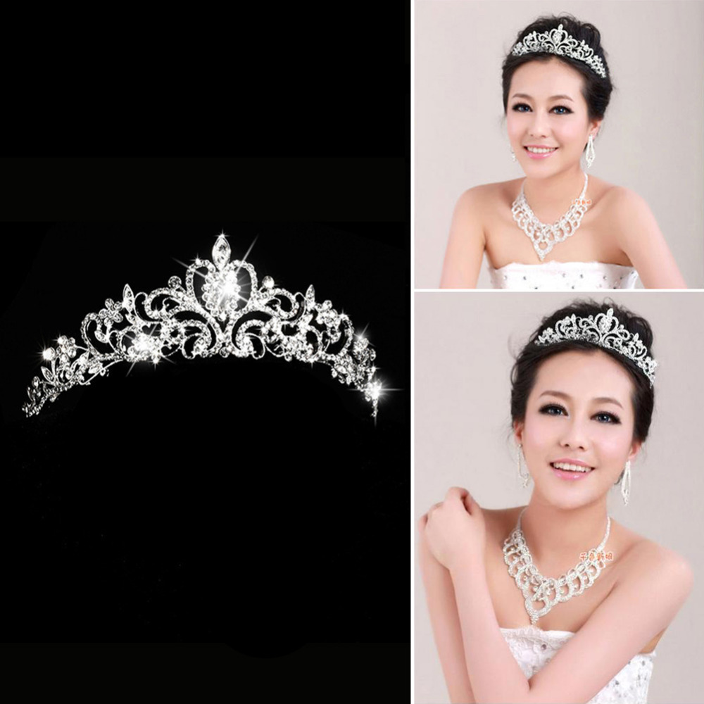 Гаджет  Elegant Luxurious Wedding Bride Crown Headwear Rhinestone Tiaras Head Pin Wedding Party Bride Jewelry E#CH None Ювелирные изделия и часы
