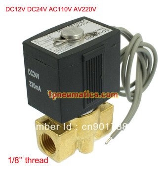 """Free Shipping 1/8"""" Female Thread Electric Solenoid Valve B20N 12V DC Air Gas Diesel VX2120-06 DC24V/AC110V or AC220V as Option"""