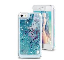 i4/4S Glitter Stars Dynamic Liquid Quicksand Hard Case Cover For iPhone 4 4S Transparent Clear Phone Case(China (Mainland))