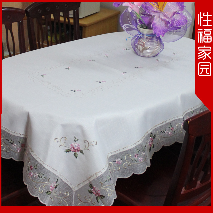 58 rose jacquard linen fabric multi-purpose towel dining table cloth tablecloth gremial