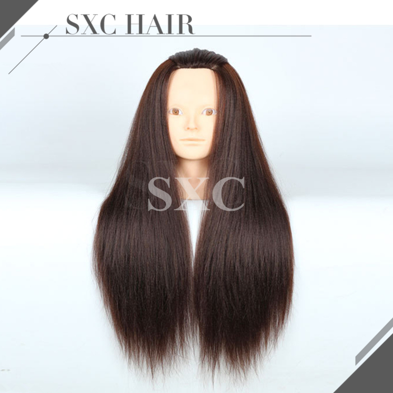 2016 Hot Sale Hairdresser Training Mannequin Head With Hair 24Inch Female Synthetic Fiber Dummy Doll Cosmetology Head Hairstyles<br><br>Aliexpress