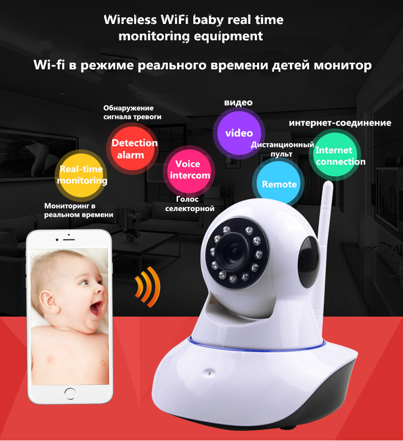 Ip camera wifi baby Monitors with motion detection intercom and hd 960P Night Vision live streaming baby electronic monitor(China (Mainland))