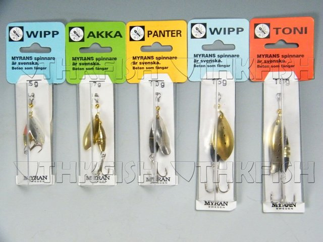 Free Shipping !Sweden Made MYRAN 5g 7g 10g 15g 18g Mixed Orders Spinner Baits Lures Fishing Lures Spinners