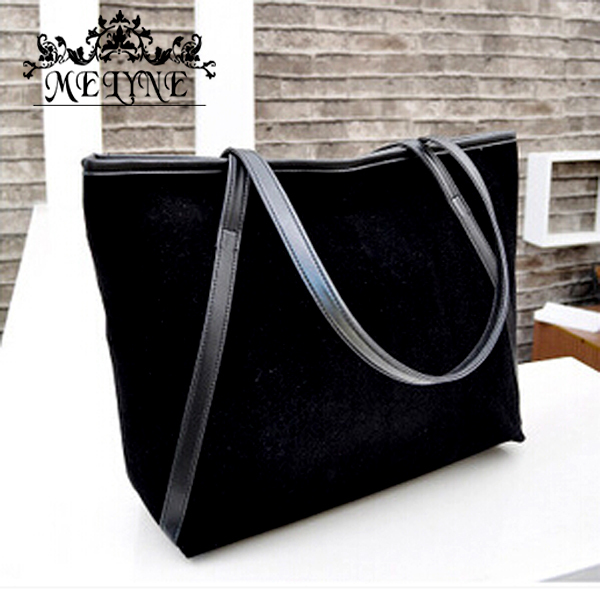 New arrival bolsas winter lager capacity vintage women handbag messenger bag suede leather WOMEN BAG simple style free shipping(China (Mainland))