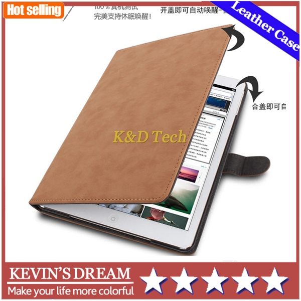 Ultralight Retro PU Leather Case for iPad Air 2 9.7'' Smart Cover for Apple iPad Air II for iPad 6 Flip Cover Protectiv Shell(China (Mainland))