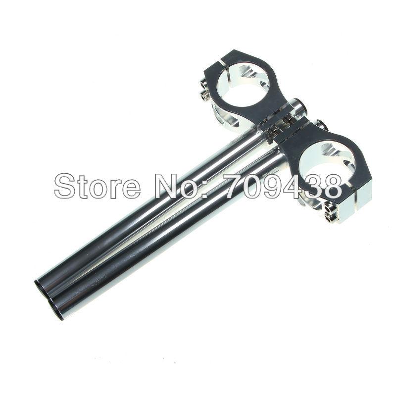 Фотография 50MM CNC Clip On Ons Handlebars Handle Bar For YAMAHA YZF-R6 05-11 R6S 06-07 R1 98-11 YZF750R 94-97 SILVER