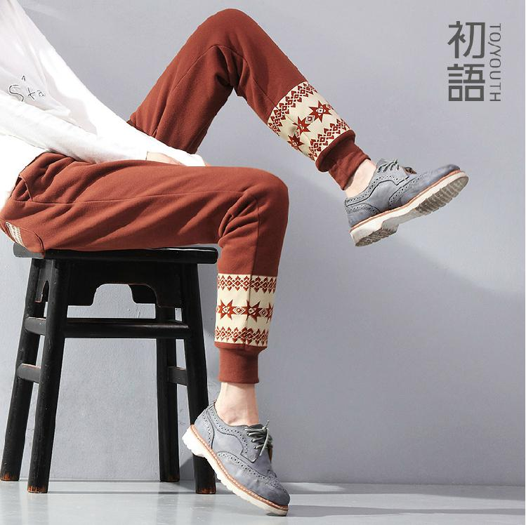 2014 Brand TO/YOUTH Ladies Geometric Printed Pattern Spring Loose Ethnic Style Sporting Harem Casual Pants Free ShippingОдежда и ак�е��уары<br><br><br>Aliexpress
