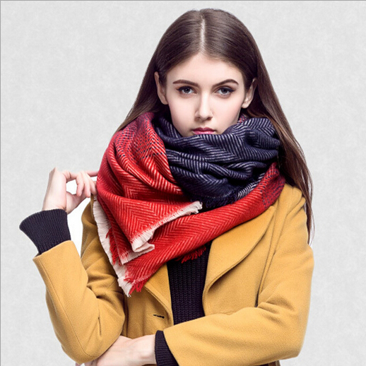 Foulard Poncho Scarf For Women Winter Blacket Shawl Pashmina Hijab Cashmere Snood font b Tartan b