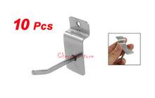 "Most Favorable Wholesale Price 10 Pcs/lot Wall Board Shelf Rectangular Silver Tone Metal Display Hooks 1.8""(China (Mainland))"