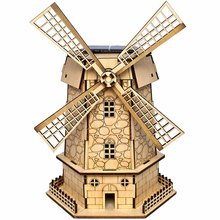 2016 New Arrival Solar Toy Assembly Holland Windmills DIY Colored Drawing and Automatic Solar Light Sensation 3D Puzzles Gifts(China (Mainland))