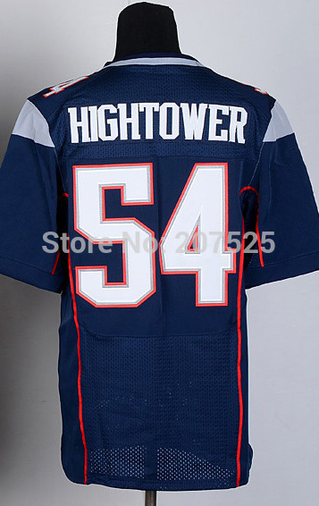 Free shipping, 54 Dont'a Hightower Elite Jersey New England Football Jerseys For Men,Hightower American Football Jersey Embroide(China (Mainland))