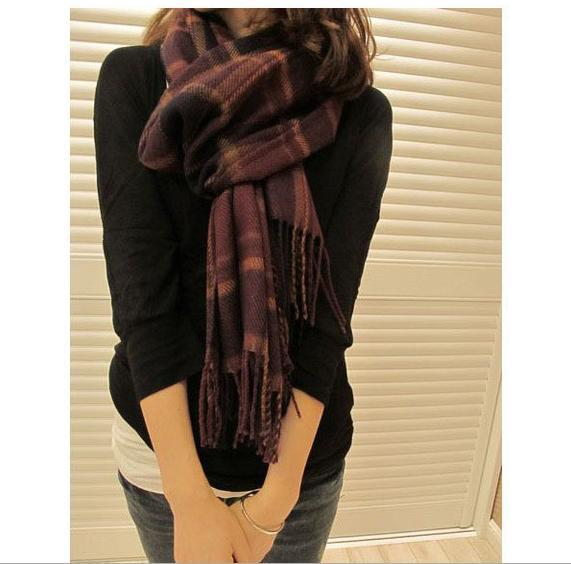 2015 New Fashion Stripe women's scarves wraps Imitation wool scarf Female shawls scarfs 200*60 Ladies Pashmina SCARF-85511(China (Mainland))