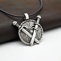 1pcs Norse Viking Necklace Antique Silver Sword Pendant Necklace Medieval Jewelry Courage Necklace Men s Gift