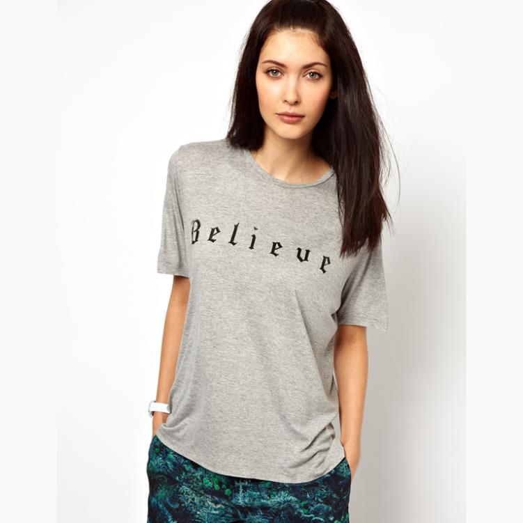 2015 new clothing lulu co print letter believe