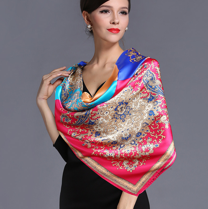 Silk scarf silk large facecloth quality cape women's scarf hangzhou silk(China (Mainland))