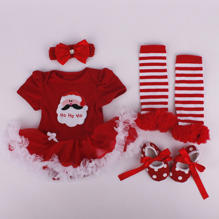 Christmas gifts newborn baby costumes kids santa romper girls tutu