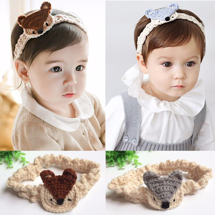 Little fox Baby Kids Girls Knitting Fox Headband Hair Band Head Decor Accessories diademas pelo turbante New Design Lucky(China (Mainland))